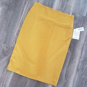 LuLaRoe Yellow Cassie Skirt